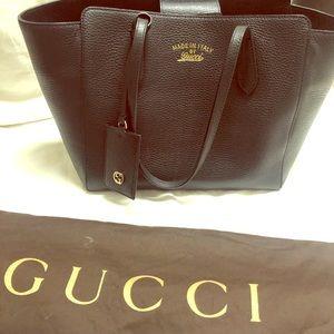 Authentic Gucci Leather Bag Black
